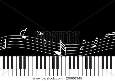 vector piano musical abstract background