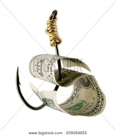 Dollar Bill On A Fishhook