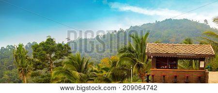 resorts house wooden in jungle landmark travel
