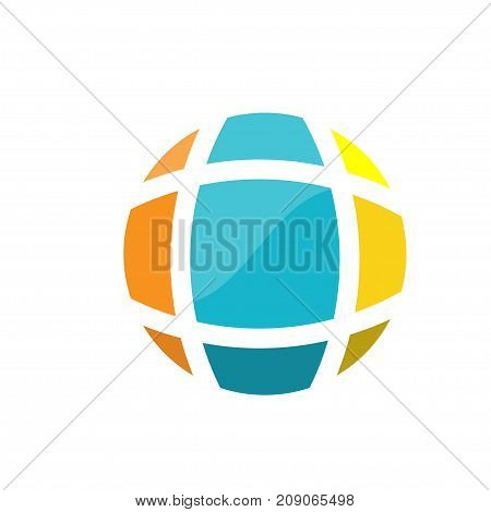 creative abstract earth globe logo design. Earth logo. Globe logo icon