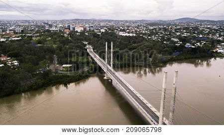 View Of The Eleanor Schonell Bridge In West End, Brisbane