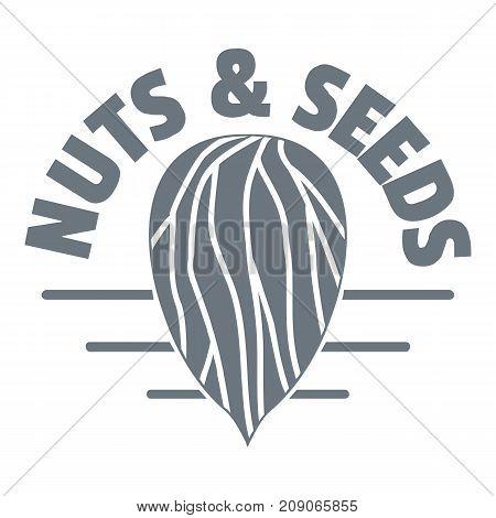 Nut and seed company logo. Vintage illustration of nut and seed company vector logo for web