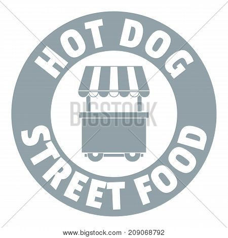 Hot dog stand logo. Simple illustration of hot dog stand vector logo for web