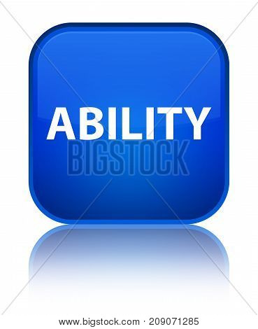 Ability Special Blue Square Button