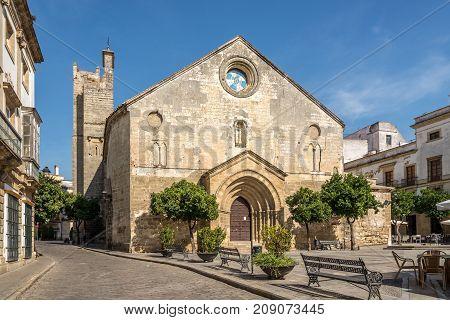 San Dionisio church at the Asuncion square in Jerez de la Frontera - Spain
