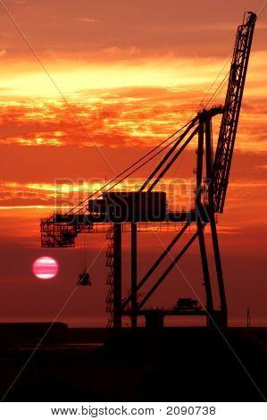 Sunrise On A Burnie Crane
