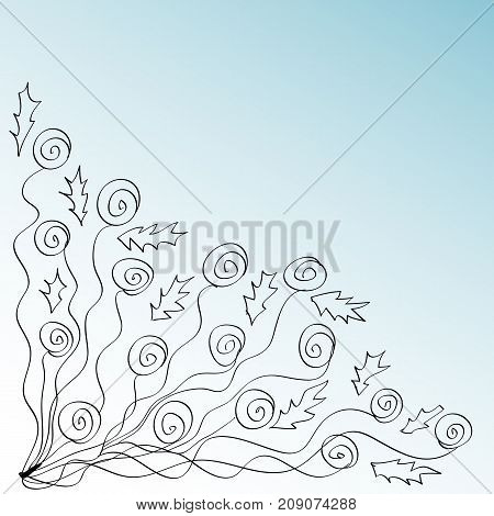 Vector Background With Pink Roses Flowers And Green Leaves. Coloring