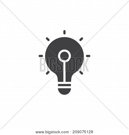 Light bulb icon vector, filled flat sign, solid pictogram isolated on white. Idea symbol, logo illustration.
