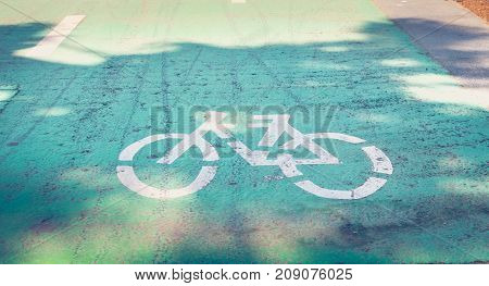 Bicycle Painted White On The Road To Indicate A Bicycle Pisa