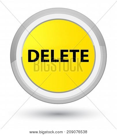Delete Prime Yellow Round Button