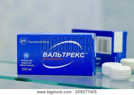 Box Of Valtrex Tablets Of 500 Mg