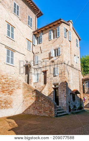 House In A Street Of Urbino