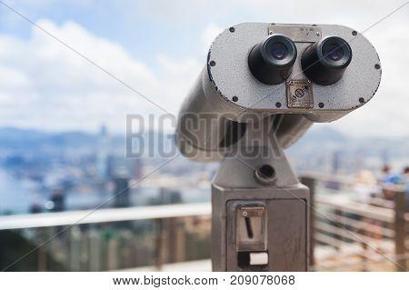 Tourist Telescope, Hong Kong, Victoria Peak