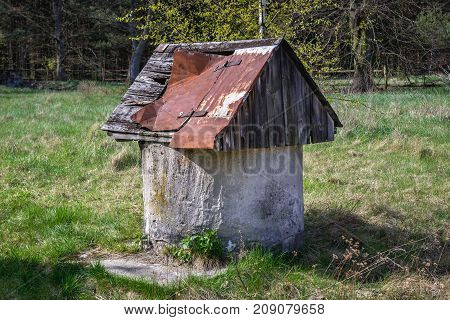 Abandoned farm in forest complex called Kampinos near Warsaw Poland