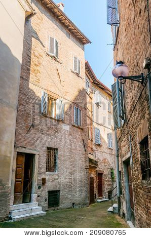 Houses In A Street Of Urbino