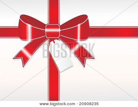 red ornamental bow isolated on white background, illustration