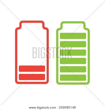 Battery 3D Isolated. Battery Icon Vector Sign