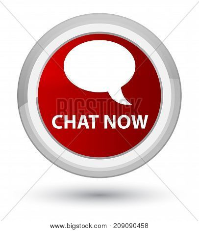 Chat Now Prime Red Round Button