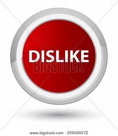 Dislike Prime Red Round Button
