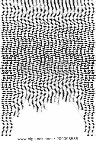 Minimalistic Design. Halfton Cover A4 Format. Halftone Vector Concentric Squares, Spiral Lines, Mode
