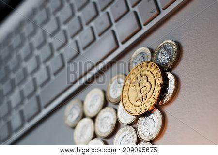 Metal Bitcoin Coin