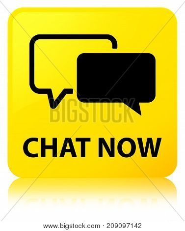 Chat Now Yellow Square Button