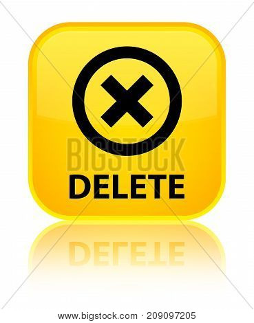 Delete Special Yellow Square Button