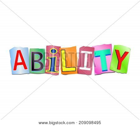 Ability Word Concept.