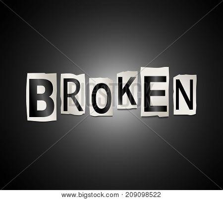 Broken Word Concept.