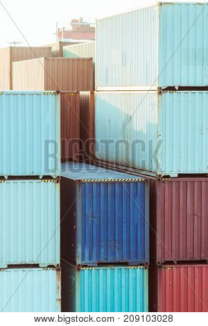 colorful containers at port,china.