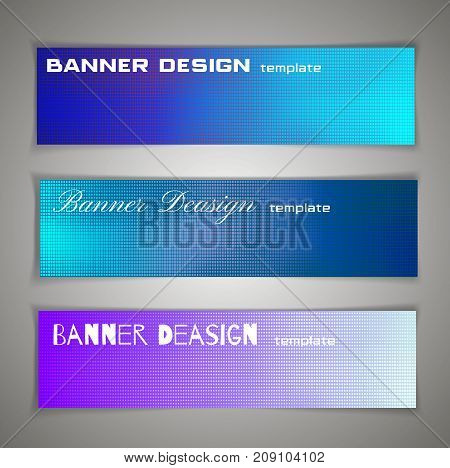 Colorful Halfton Abstract Corporate Business Banner Template, Infographic Horizontal Advertising Bus