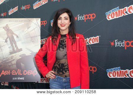 New York, NY - October 7, 2017:  Dana DeLorenzo of Starz's Ash vs. Evil Dead arrives at Comic Con 2017 in New York, NY.