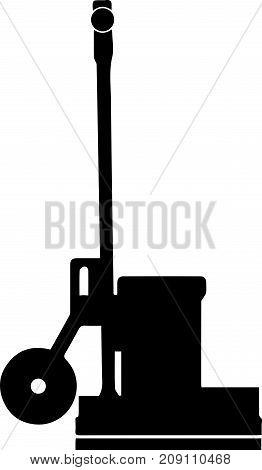 Oscillating Floor Care Machine Vector Icon Illustration