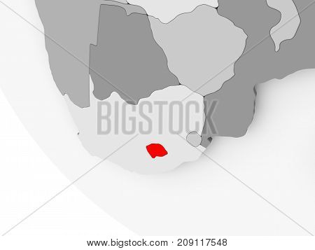 Map Of Lesotho In Red
