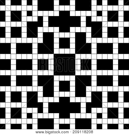 Simple black and white empty crossword. Puzzle. Vector illustration.