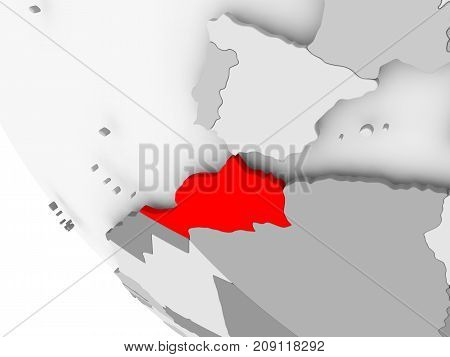 Map Of Morocco In Red