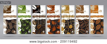 Quality nuts packaging set. You can see other packages from my portfolio.