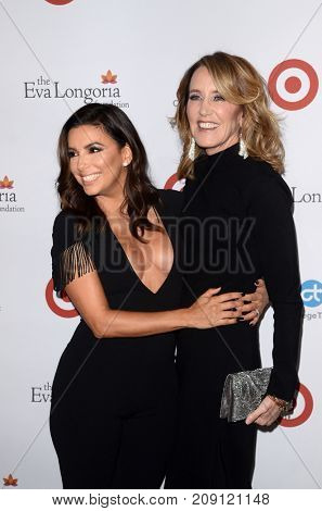 LOS ANGELES - OCT 12:  Eva Longoria, Felicity Huffman at the Eva Longoria Foundation Annual Dinner at the Four Seasons Hotel on October 12, 2017 in Beverly Hills, CA