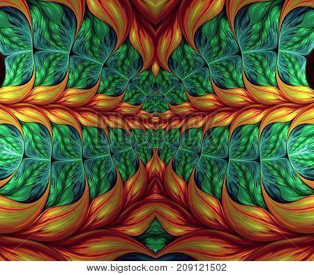Computer generated fractal artwork imaging the fern leaves