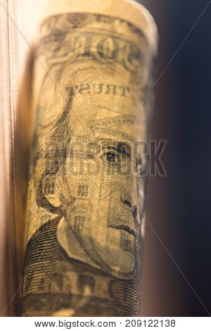twenty dollars. close-up . Photos in the studio