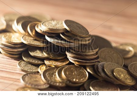 coins . Photo of abstract background Photos in the studio