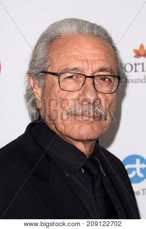 LOS ANGELES - OCT 12:  Edward James Olmos at the Eva Longoria Foundation Annual Dinner at the Four Seasons Hotel on October 12, 2017 in Beverly Hills, CA