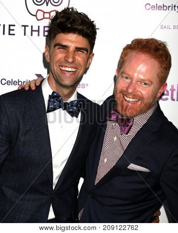 LOS ANGELES - OCT 12:  Justin Mikita, Jesse Tyler Ferguson at the Tie The Knot Celebrates 5-Year Anniversary at the NeueHouse on October 12, 2017 in Los Angeles, CA