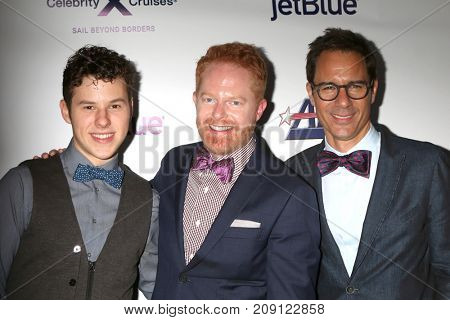 LOS ANGELES - OCT 12:  Nolan Gould, Jesse Tyler Ferguson, Eric McCormack at the Tie The Knot Celebrates 5-Year Anniversary at the NeueHouse on October 12, 2017 in Los Angeles, CA