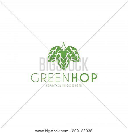 Hop. Isolated logo on white background. (EPS)
