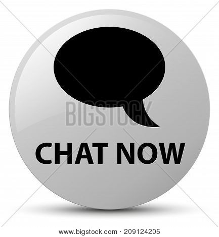 Chat Now White Round Button