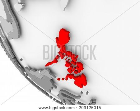 Map Of Philippines In Red