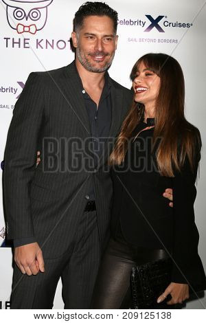 LOS ANGELES - OCT 12:  Joe Manganiello, Sofia Vergara at the Tie The Knot Celebrates 5-Year Anniversary at the NeueHouse on October 12, 2017 in Los Angeles, CA