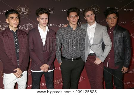 LOS ANGELES - OCT 4:  Drew Ramos, Michael Conor, Chance Perez, Brady Tutton, Sergio Calderon, In Real Life_ at the People's Ones To Watch Party at the NeueHouse on October 4, 2017 in Los Angeles, CA