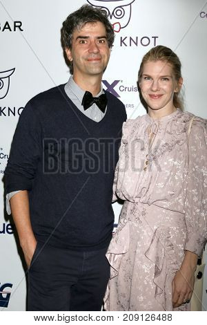 LOS ANGELES - OCT 12:  Hamish Linklater, Lily Rabe at the Tie The Knot Celebrates 5-Year Anniversary at the NeueHouse on October 12, 2017 in Los Angeles, CA